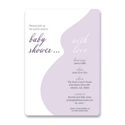 Silhouette baby shower 			invitation image